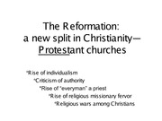 Chapter 13 The Reformation