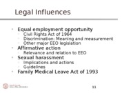Legal Influences, Handout