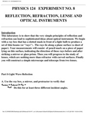 124-08 Reflection refraction lenses and optical instruments