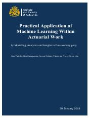 Practical Application of Machine Learning within Actuarial Work Final (2)_feb_2018.pdf