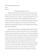 Essay on The Watermelon Woman