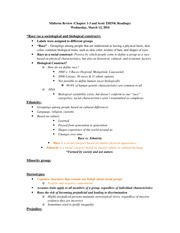 Midterm Spring 2014 Study guide