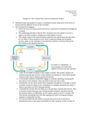Module 10- The Circular Flow and Gross Domestic Product