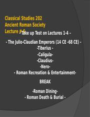 Classical Studies 202 Lecture 6 WL.ppt