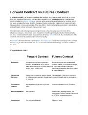 Forward Contract vs Futures Contract.doc