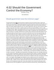 4.02 Should the Government Control the Economy.docx