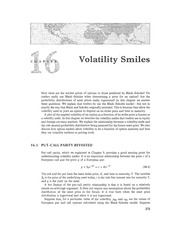 Chapter 16 Lecture on Volatility Smile