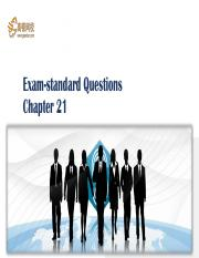 59 Exam-standard Questions-Chapter 21