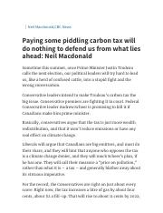 Paying some piddling carbon tax will do nothing to defend us from what lies ahead_ Neil Macdonald _