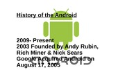 History of the Android