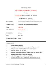 Networking and Communication Technology Exam May -2015.docx