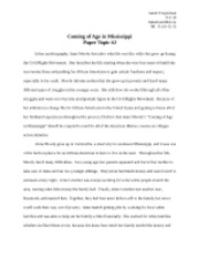 Essay Editing Software Coming Of Age In Mississippi Favorite Teacher Essay also Reference Page For Essay Coming Of Age In Mississippi Documents  Course Hero Self Descriptive Essay Example