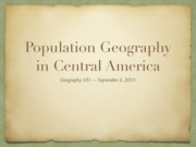 7 Central America & Population Geography
