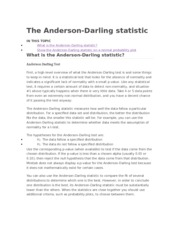 The Anderson-Darling statistic