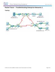 9.2.3.13 Packet Tracer - Troubleshooting Enterprise Networks 2 Instructions