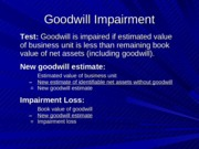 Goodwill Impairment and Push Down Accounting