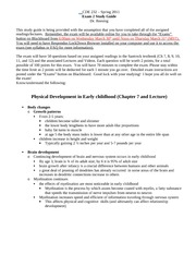Human development exam 2 study guide