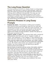 Long essay examples