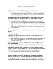 Belief Based Approaches Study Guide .docx
