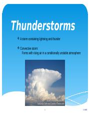 Lecture 20 Thunderstorms (1)