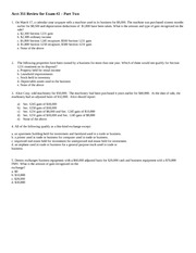 SP14 Acct 351  Review for Exam 2_Part Two