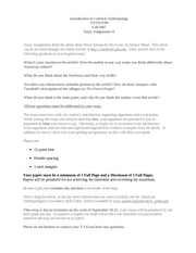 essay assignment nacirema introduction to cultural essay assignment 1 nacirema introduction to cultural anthropology anth 0780 fall 2007 essay assignment 1 essay assignment the article body ritual