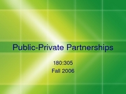 305 PublicPrivatePatnerships 2006