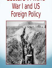 Lec 7 WWI and US Foreign Policy.ppt