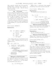 PHY 303K Midterm 4 Review I Solutions