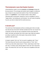 Thermodynamic Laws that Explain Systems