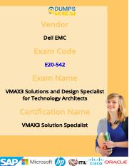 Up-to-Date Dell EMC E20-542 Exam Questions & Practice Tests