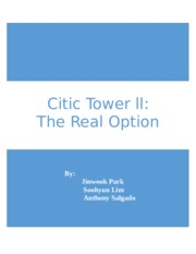 FIN345--Citic Tower ll Case Study.docx