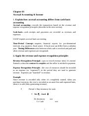 BUS 202 Notes Chapter 3 Accrual Accounting & Income