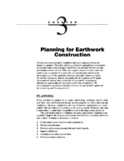 Planning for Earthwork Construction
