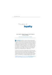 5. The price of Loyalty