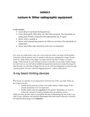 RADD 2501 Animal Insides Lecture - Radiographic Equipment