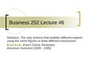 Business 252 6 Linear Regression