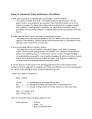 Chapter 12 Questions - Chris Williams