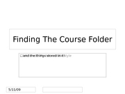 Finding The Course Folder-OWA
