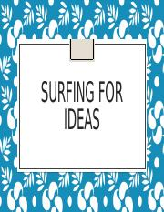 Surfing for ideas