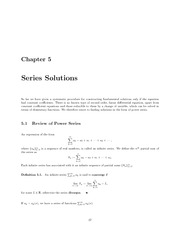 Math 334 Series Solution Notes