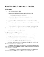 Functional Health Pattern Interview 3