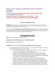 Anatomy and Physiology 21300 Study Guide 2(1).doc