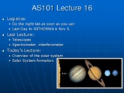 AS101 Lecture 16