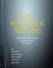 Peoples Solutions Inc Group IP4 Project control.pptx