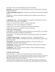 Psychology- Study Guide- Psychobiological approach to Personality