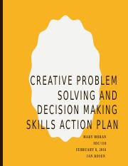 Creative Problem Solving & Decision Making Skills Action Plan