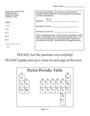 Exam 2 Solutions Fall 2013