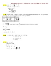 MODULE 2 EXERCISES-MATH 121