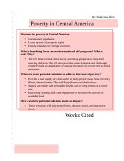 Final Project - Part III; Eliminating Poverty in Central America .docx